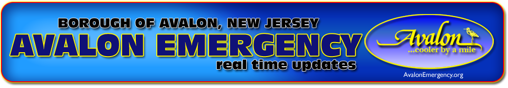 Avalon New Jersey Emergency Updates Logo