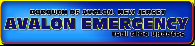 Avalon New Jersey Emergency Updates Logo